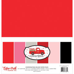 "Echo Park Double-Sided Solid Cardstock 12""X12"" 6 pack - Cupid & Co., 6 colours"