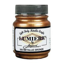 Jacquard Lumiere Metallic Acrylic Paint 2.25oz - Metallic Bronze