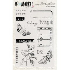49 And Market Clear Stamps 4in x 6in - Always Together