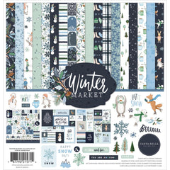 Carta Bella Collection Kit 12in x 12in - Winter Market