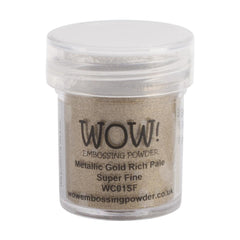 Wow! Embossing Powder Super Fine 15ml Gold Rich Pale