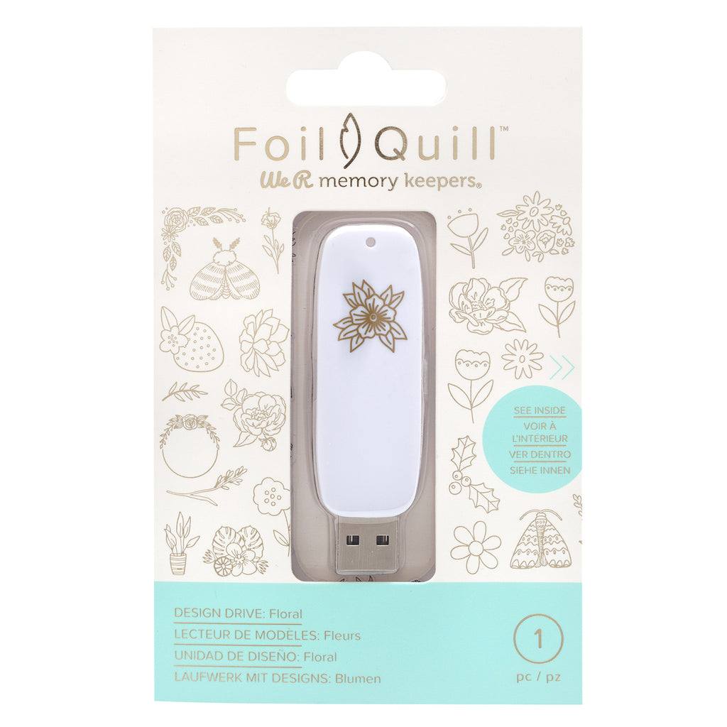 We R Memory Keepers - Foil Quill USB Artwork Drives - Floral