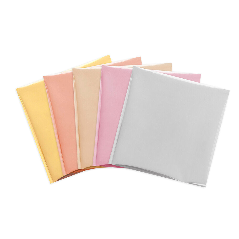 We R Memory Keepers Foil Quill - 12in x 12in Foil Sheets 15 pack - Shining Starling - 3 Each Of 5 colours