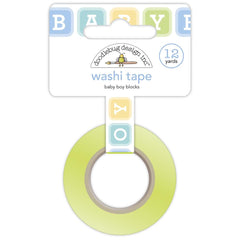 Doodlebug Washi Tape 15mmX12yd - Baby Boy Blocks, Special Delivery