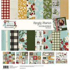 Simple Stories - Collection Kit 12 inchX12 inch - Winter Farmhouse