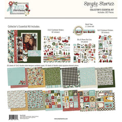 Simple Stories - Collector's Essential Kit 12 inchX12 inch - Winter Farmhouse
