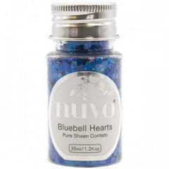 Tonic Studios - Nuvo Pure Sheen Confetti 1oz - Bluebell Hearts