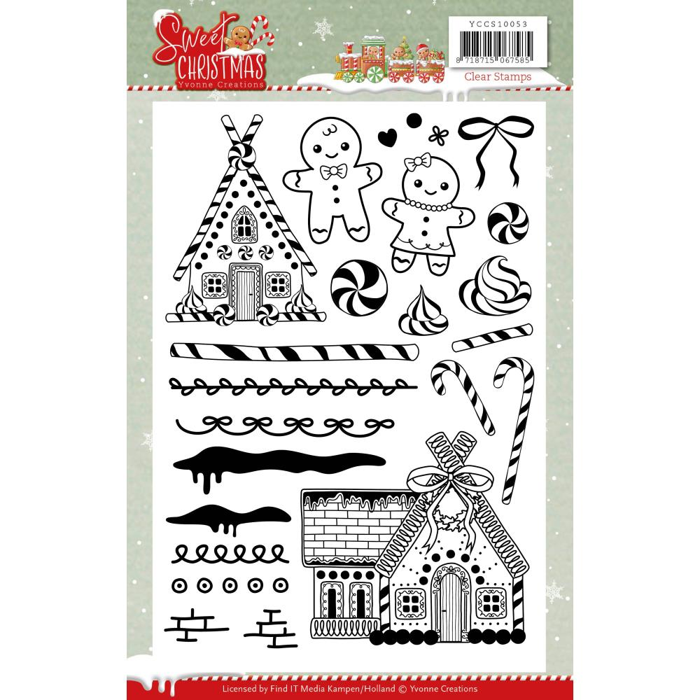 Find It Trading Yvonne Creations Clear Stamps - Sweet Christmas