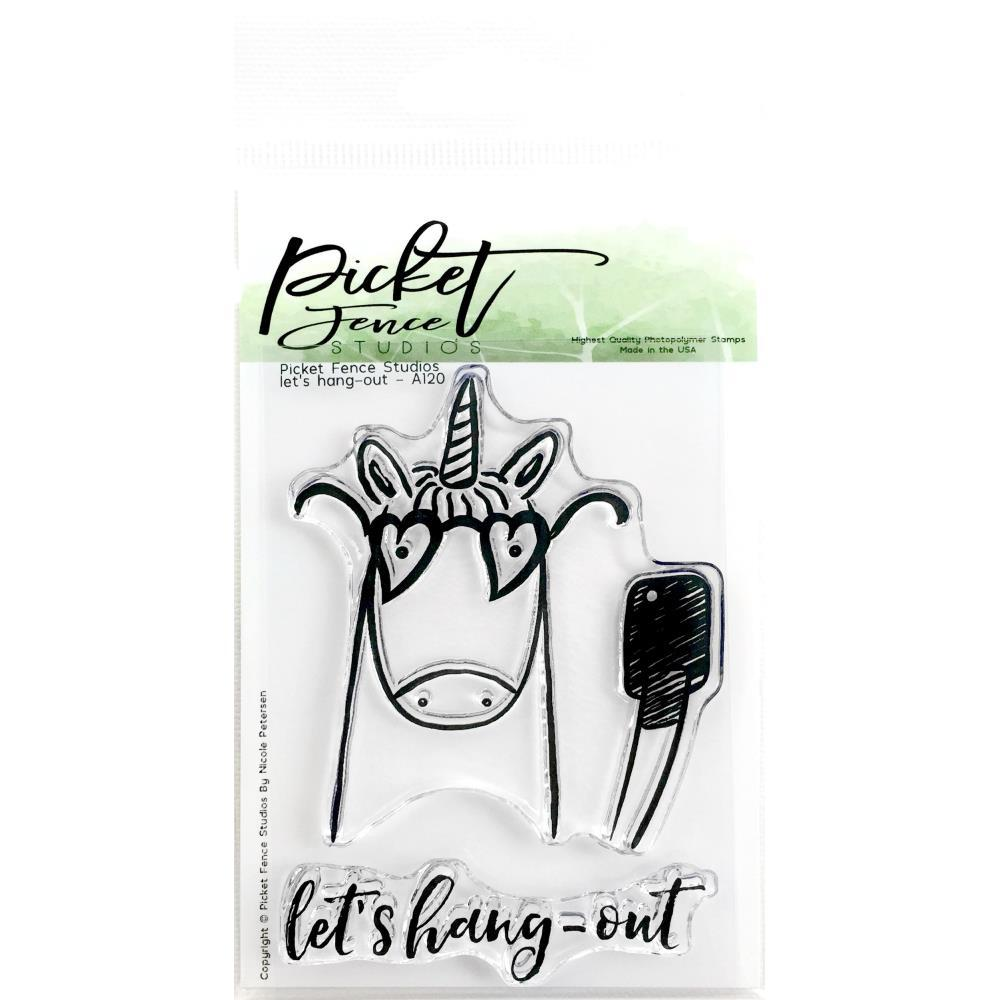 Picket Fence Studios 3inch X4inch Stamp Set Let's Hang Out