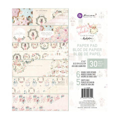 Prima Double-Sided Paper Pad 8in x 8in 30 pack  - Sugar Cookie, 6 Designs/5 Each