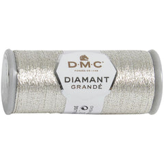 DMC Diamant Grande Metallic Thread 21.8yd - Light Silver
