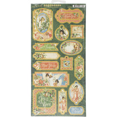 Graphic 45 - Joy To The World Chipboard Die-Cuts 6 inch X12 inch  Sheet Decorative & Journaling