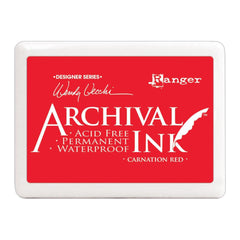 Ranger - Wendy Vecchi Designer Series Archival Ink Pad No.3 - Carnation Red
