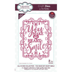Creative Expressions Craft Dies By Sue Wilson All In One - You Make My Heart Smile