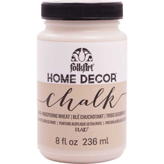 FolkArt Home Decor Chalk Paint 8oz - Whispering Wheat