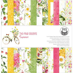 P13 Double-Sided Paper Pad 12in x 12in  12 pack  - The Four Seasons-Summer