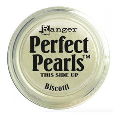 Ranger Perfect Pearls Pigment Powder .25oz - Biscotti