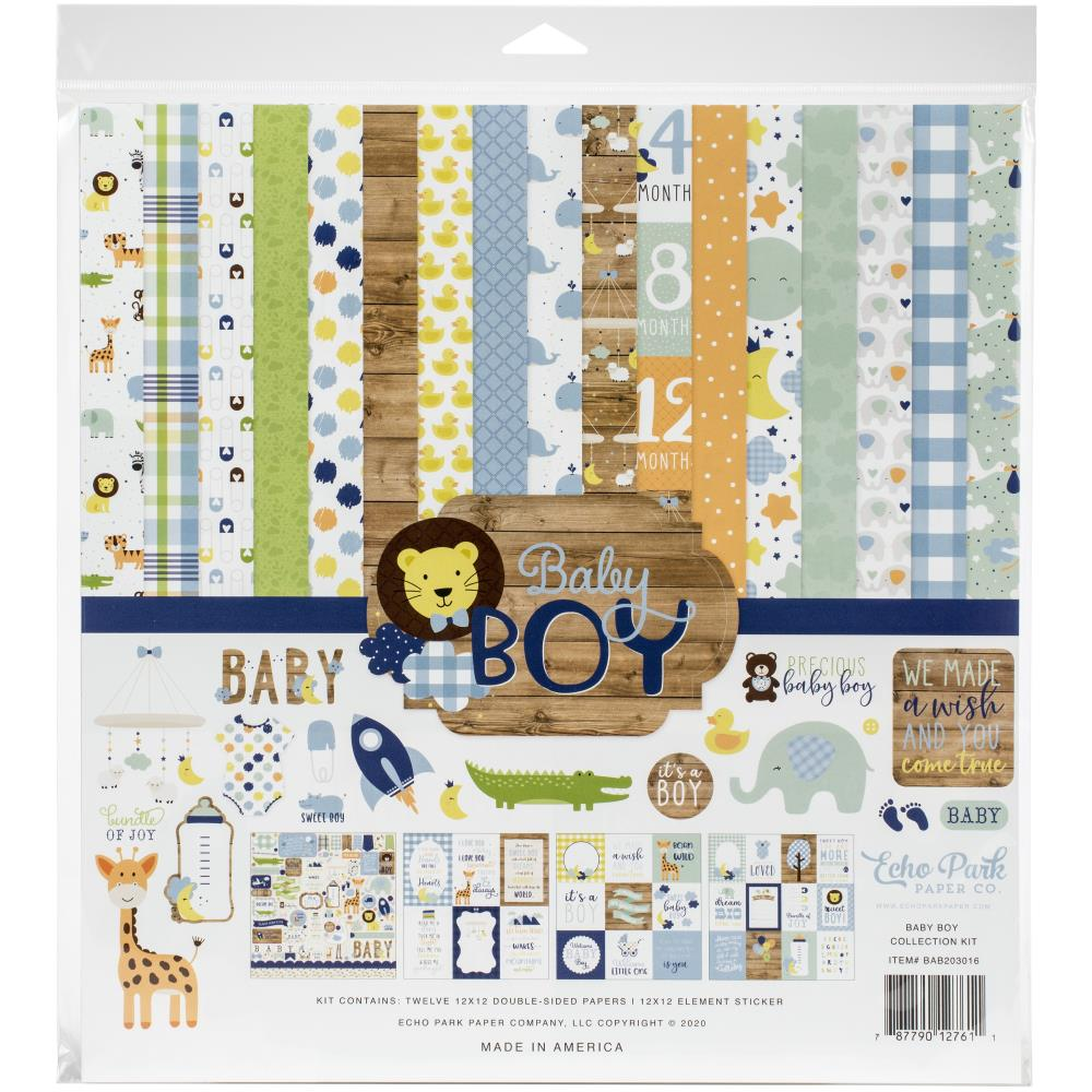 Echo Park Collection Kit 12in x 12in - Baby Boy