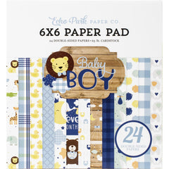 Echo Park Double-Sided Paper Pad 6in x 6in 24 pack - Baby Boy