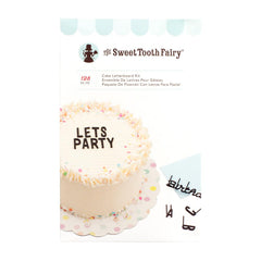 American Crafts - Sweet Tooth Fairy Cake Letterboard Kit 128pcs - Alphabet Black