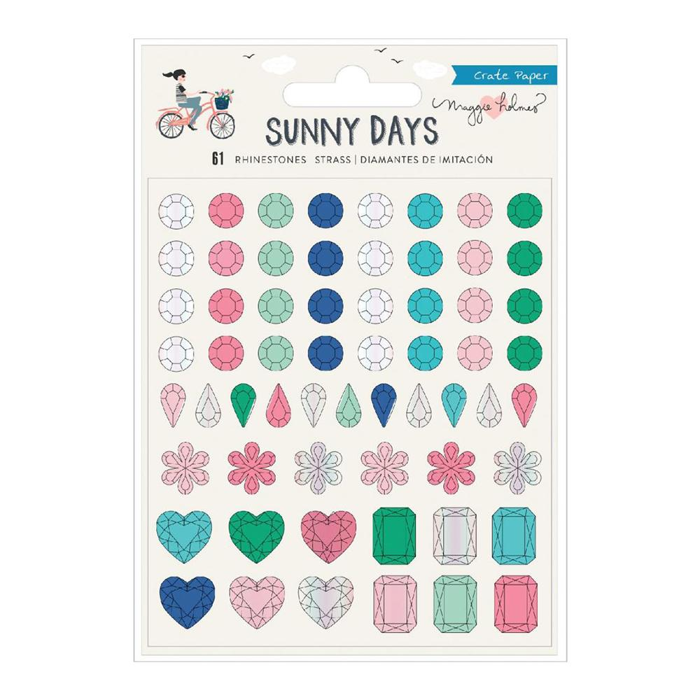 Crate Paper - Maggie Holmes Sunny Days Rhinestones 61 per pack