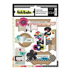 American Crafts - Vicki Boutin Colour Kaleidoscope Sticker Book 154 per pack