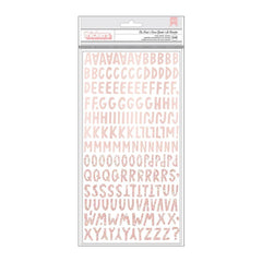 American Crafts - Amy Tan Stay Sweet Thickers Stickers 342 per pack - Be Kind Alpha/Blush Foam
