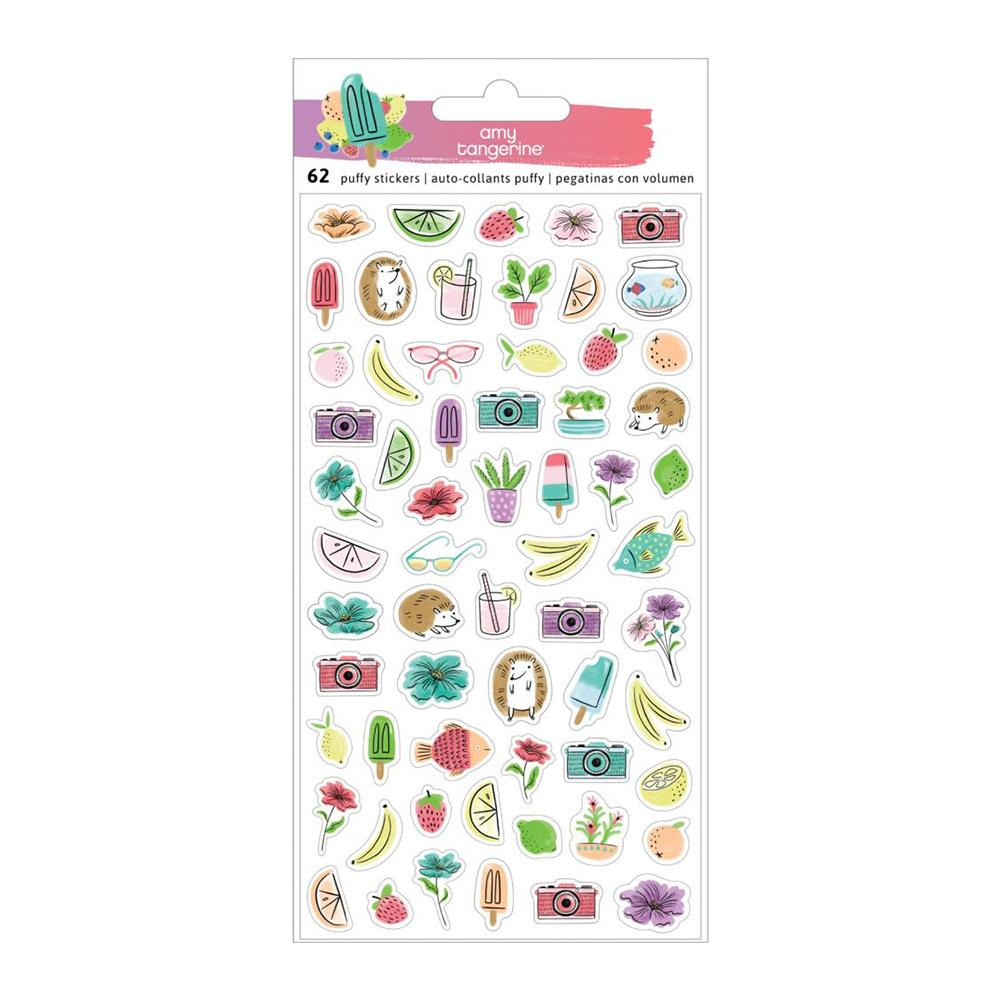 American Crafts - Amy Tan Stay Sweet Stickers 62 per pack Mini Puffy Icons