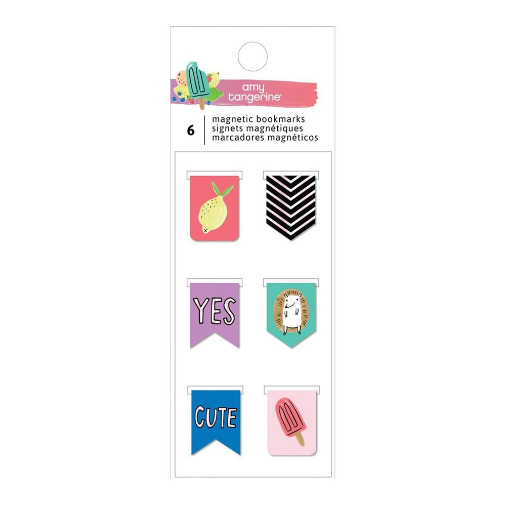 American Crafts - Amy Tan Stay Sweet Magnetic Bookmarks 6 per pack
