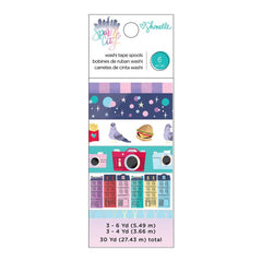American Crafts - Shimelle Sparkle City Collection - Washi Tape Set with Foil Accents
