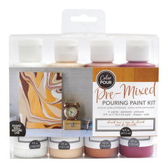 American Crafts Colour Pour Pre-Mixed Paint Kit 4 pack - Desert Rose
