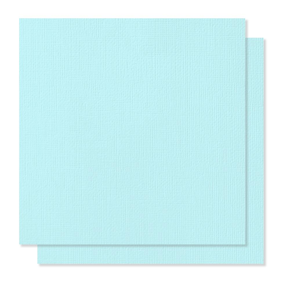 American Crafts 12Inx12in Textured Cardstock - Baby Blue - Single Sheet