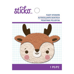Sticko Fuzzy Stickers - Embroidered Reindeer