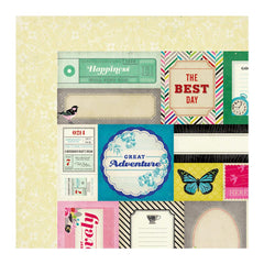 American Crafts - Crate Paper - On Trend Collection - 12 x 12 Double Sided Paper - Accent Cuts