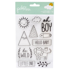 Pebbles - Peek-A-Boo You Clear Stamps - Boy
