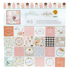 Pebbles - Single-Sided 12inx12in Paper Pad - Pebbles - Peek-A-Boo You Girl