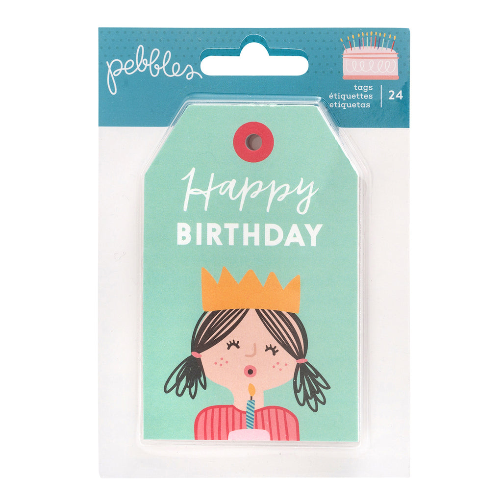 Pebbles - Happy Cake Day Collection - Embellishments - Tag Pad