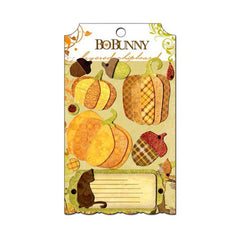 Bo Bunny - Apple Cider Collection - Layered Chipboard Stickers with Glitter and Jewel Accents
