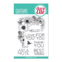 Avery Elle - Clear Photopolymer Stamps 4x6in - Floral Notes