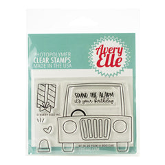 Avery Elle - Clear Photopolymer Stamps 4x3in - Peek-A-Boo Car