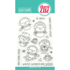 Avery Elle - Clear Stamp Set 4 inch X6 inch - Snow Fun