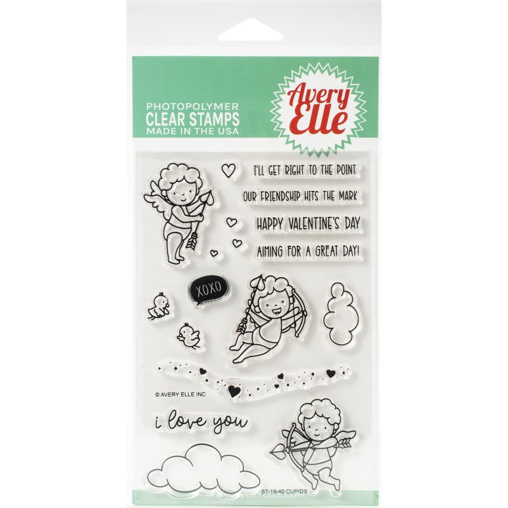 Avery Elle Clear Stamp Set 4in x 6in - Cupids