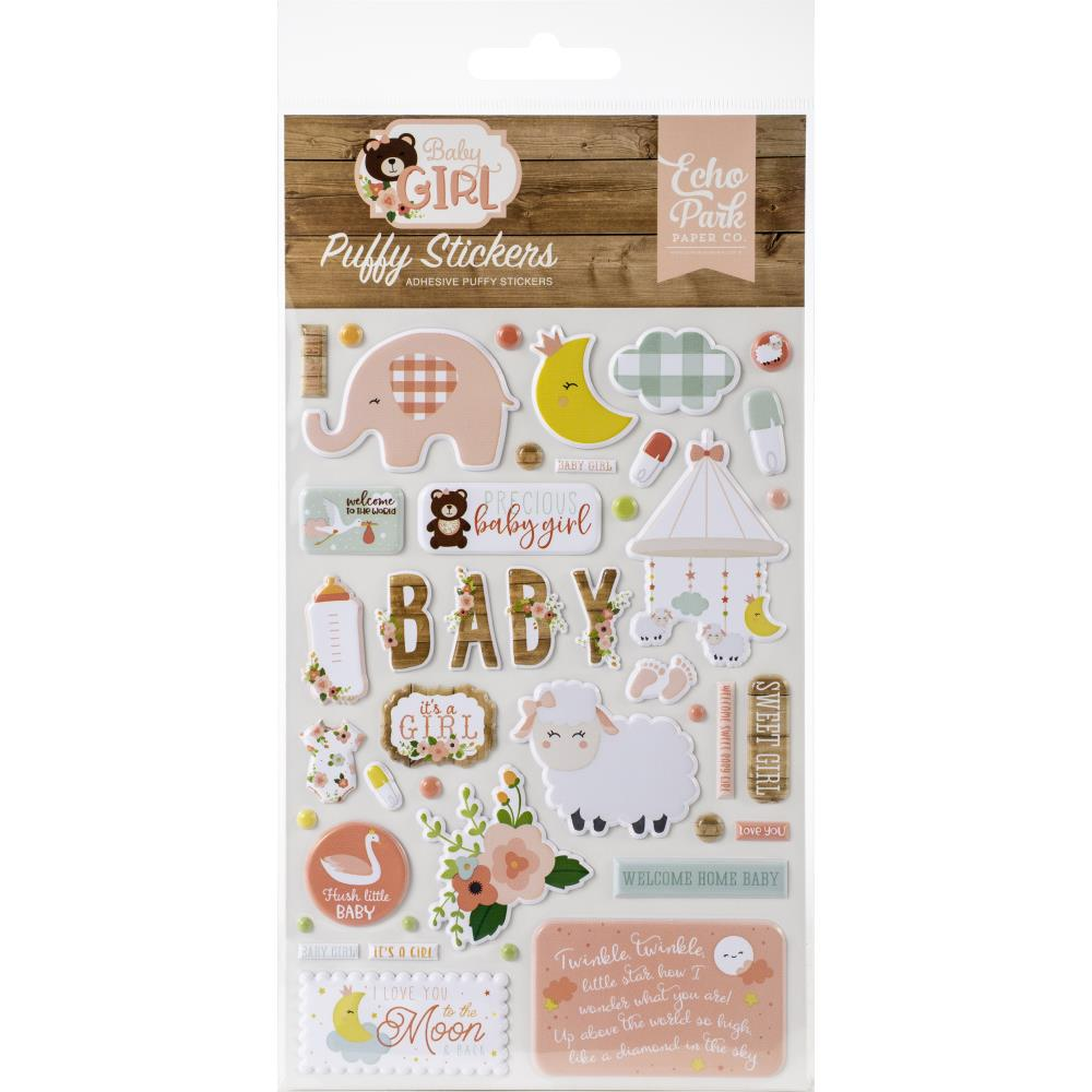 Echo Park - Baby Girl Puffy Stickers