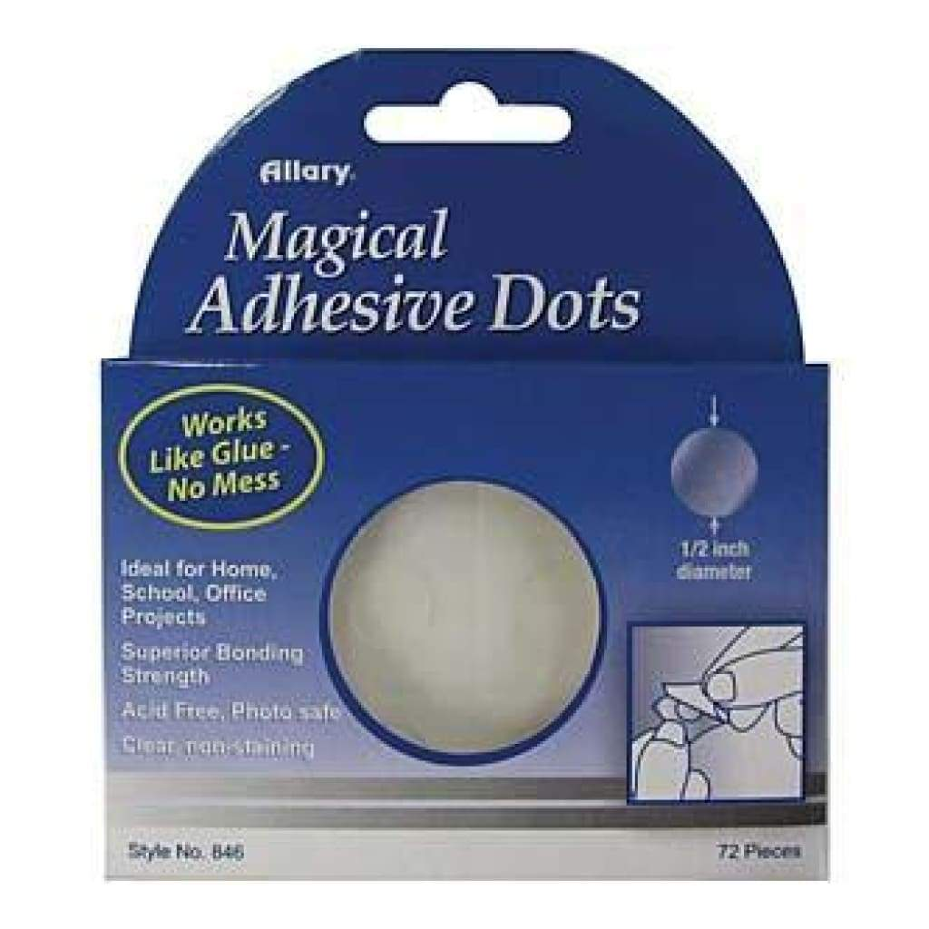 Allary Magical Adhesive Dots .5X.5 72 Pack