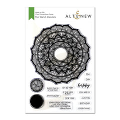 Altenew - Stamp Set - Pen Sketch Mandala