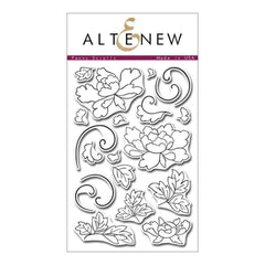 Altenew Clear Stamps - Peony Scrolls