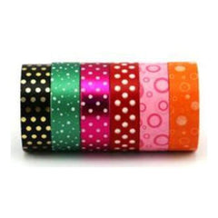 Amazing Value Foil Washi Tape - 6 Rolls Of 3 Foil & 3 Paper Assorted Designs