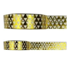Amazing Value Foil Washi Tape - Metallic Gold With Triangle Design