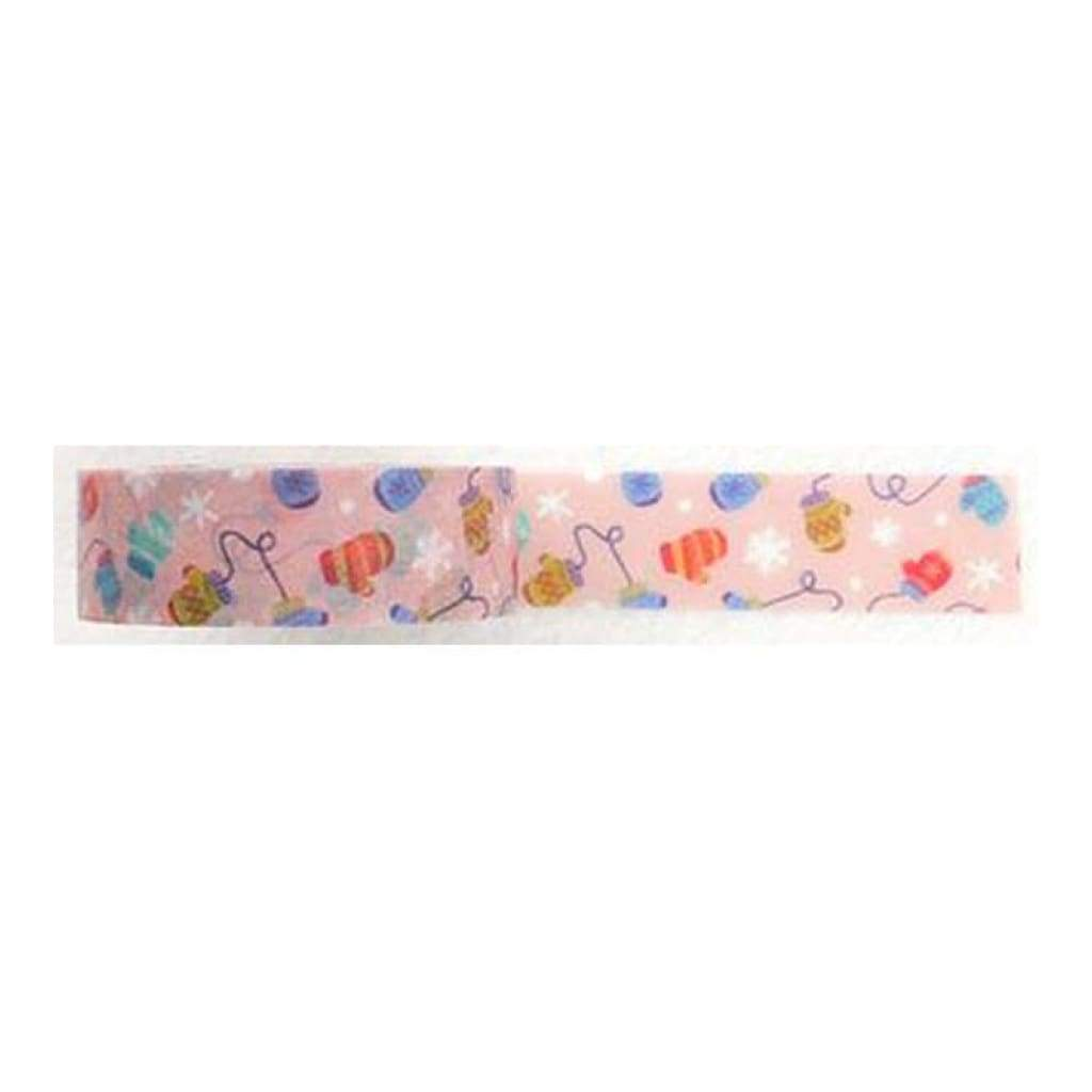Amazing Value Washi Tape - Mittens and Snowflakes - Size: 15mm x 10m