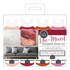 American Crafts Colour Pour Pre-Mixed Paint Kit 4 pack Amber Drift